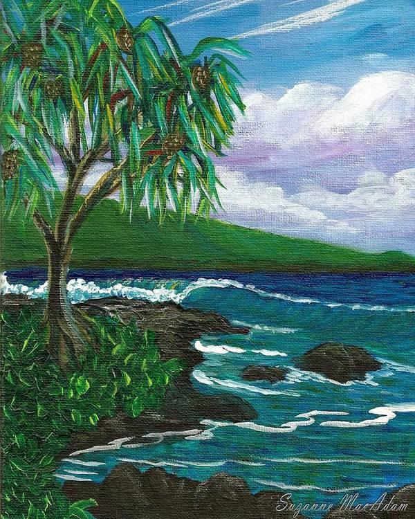 Hilo Poster featuring the painting Lau Halas In Hilo by Suzanne MacAdam