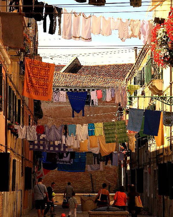 Venice Poster featuring the photograph Laundry Day in Venice by Michael Henderson