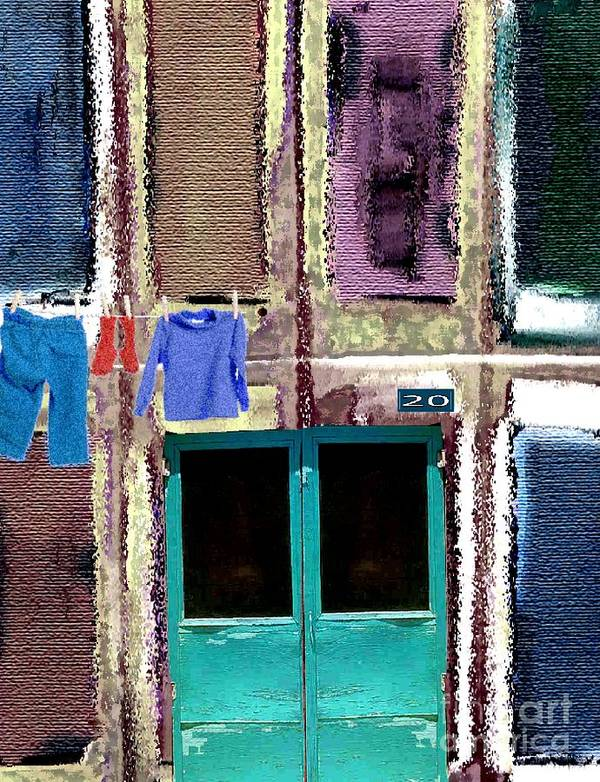 Laundry Poster featuring the digital art Laundry Day by Mimo Krouzian
