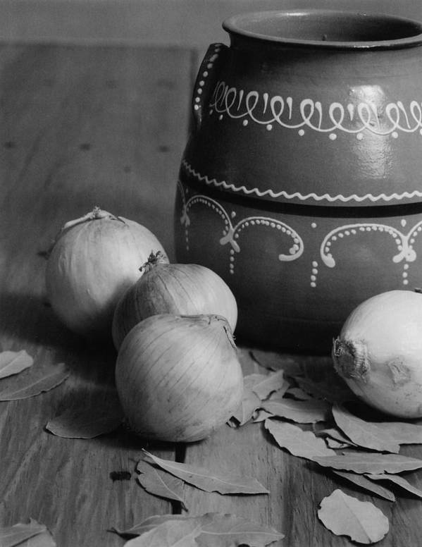 Cooking Poster featuring the photograph Laurel And Onions by Henry Krauzyk