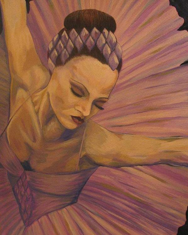 Ballet Poster featuring the painting Lavendar Ballet by Catalina Decaire
