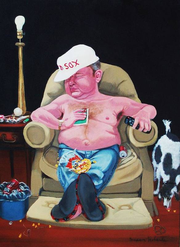 Oil Poster featuring the painting Lazy Boy by Susan Roberts