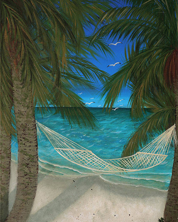 Hammock Poster featuring the painting Lazy Days Of Summer by Darlene Green
