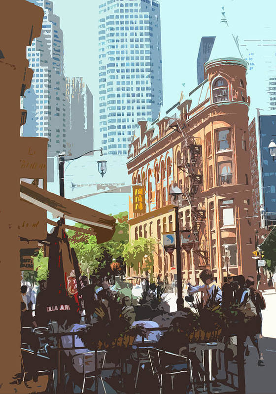 Castiron Building Poster featuring the photograph Lazy Summer Afternoon by Ian MacDonald