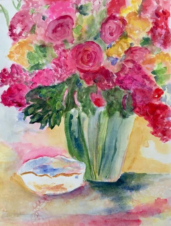 Flowers Poster featuring the pastel Le Fleur by Denise Mc Nellis