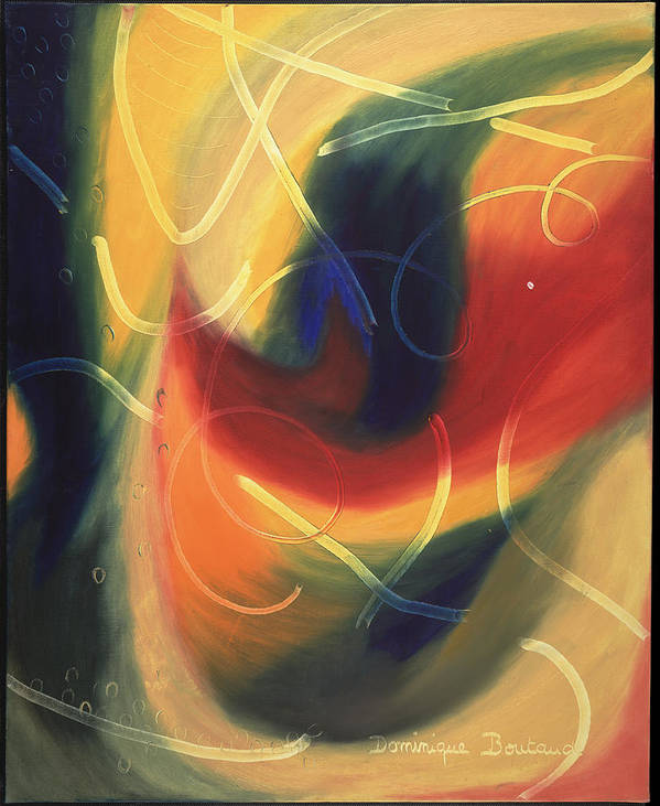 Abstract Poster featuring the painting Le Livre D by Dominique Boutaud