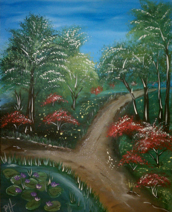 Path Poster featuring the painting Lead Me by Patti Spires Hamilton