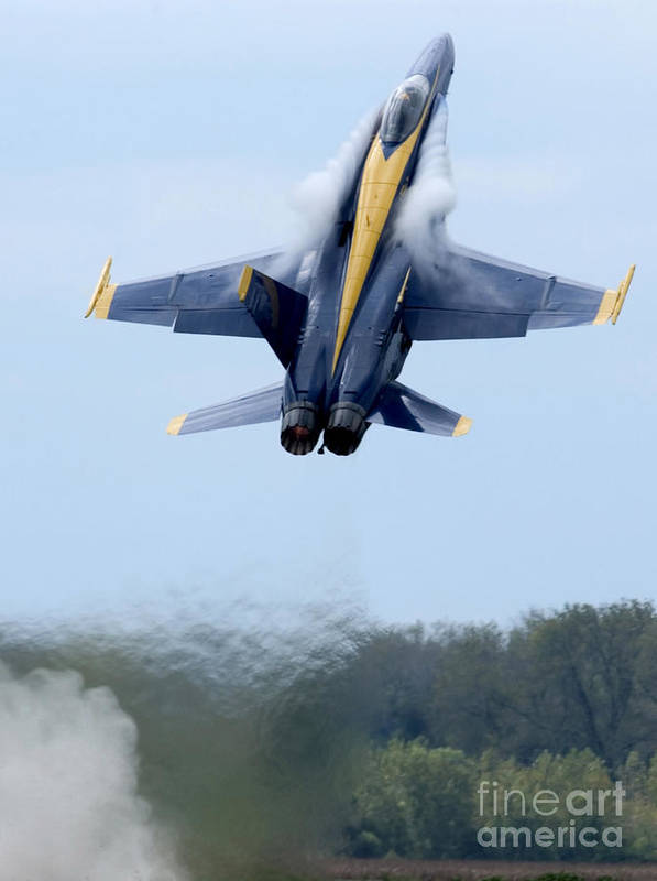 Vertical Poster featuring the photograph Lead Solo Pilot Of The Blue Angels by Stocktrek Images