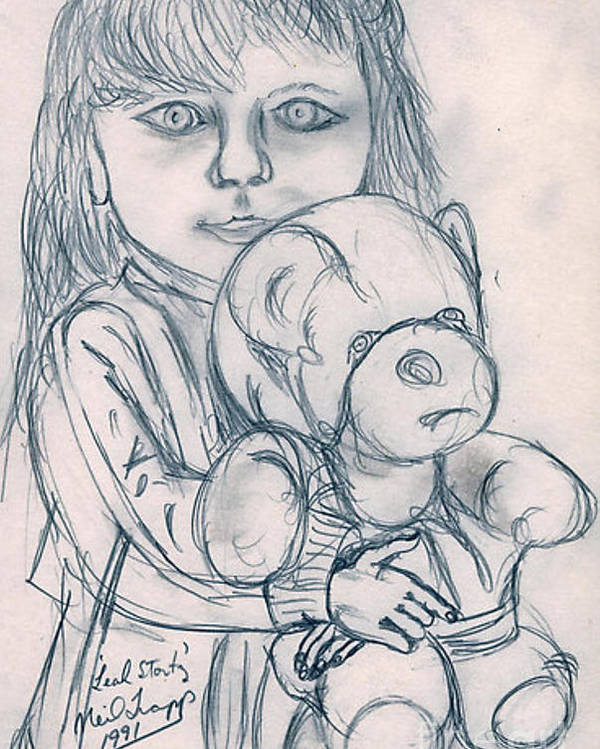 Pencil Poster featuring the drawing Leah Stortz by Neil Trapp