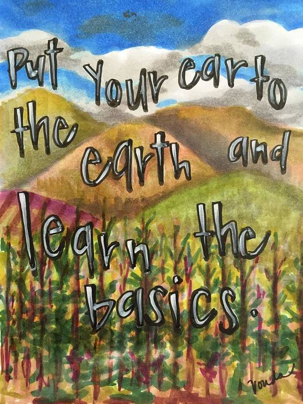 Earth Poster featuring the painting Learn the Basics by Vonda Drees