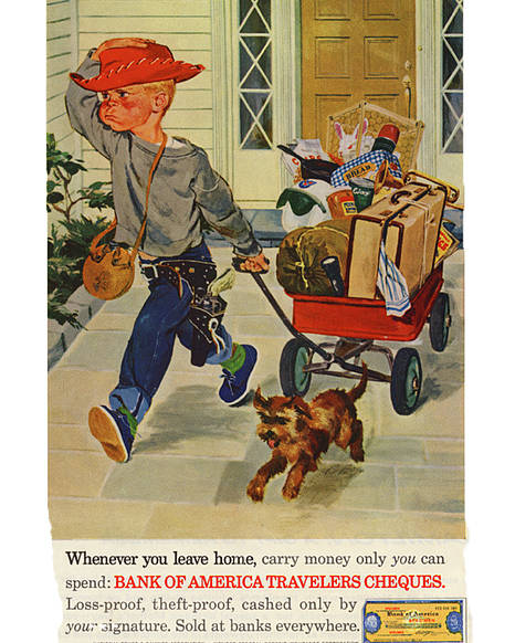 Old Advertisement Poster featuring the photograph Leaving Home by Rianna Stackhouse