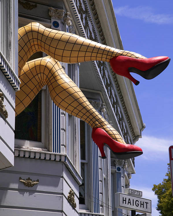 Leg Poster featuring the photograph Legs Haight Ashbury by Garry Gay
