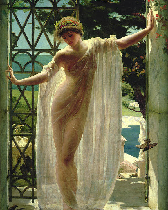 Lesbia Poster featuring the painting Lesbia by John Reinhard Weguelin