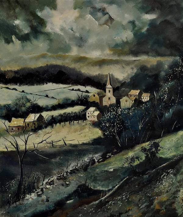 Landscape Poster featuring the painting Lesterny by Pol Ledent