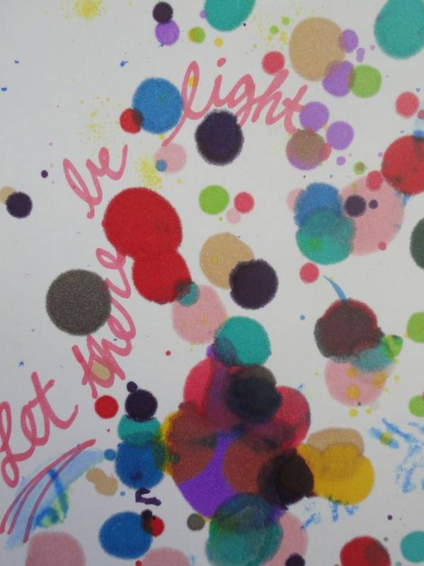 Light Poster featuring the painting Let There Be Light by Vonda Drees