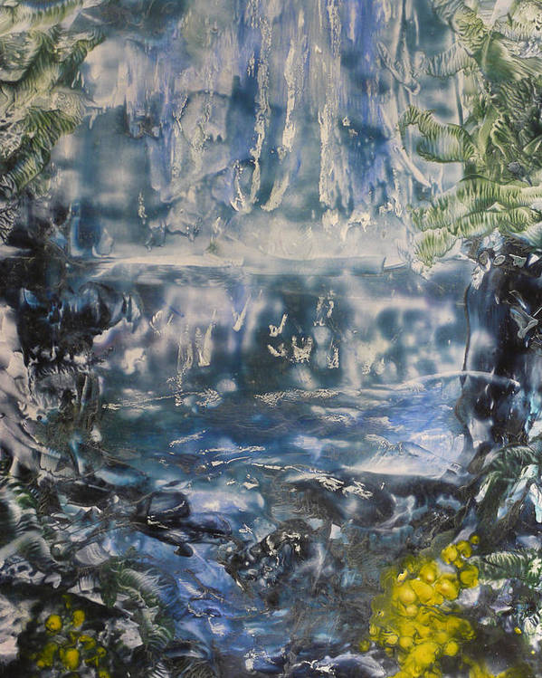 Waterfall Poster featuring the painting Libby by Heather Hennick
