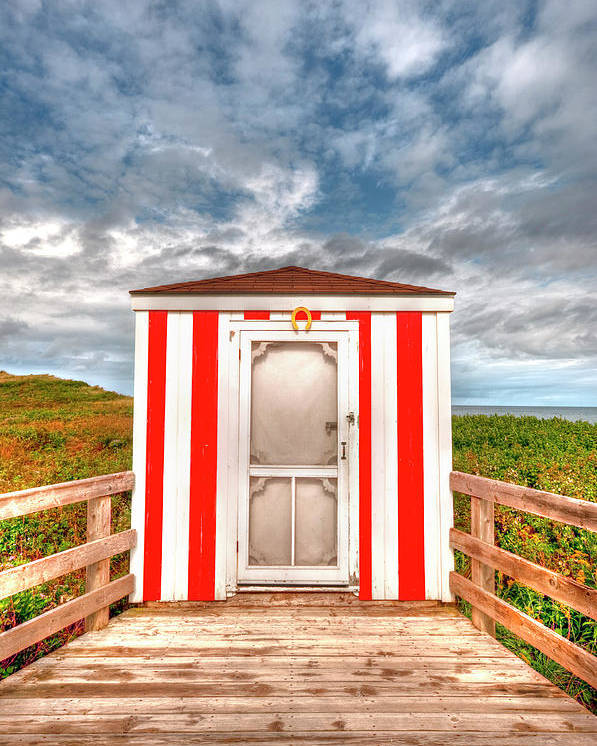 Pei Poster featuring the photograph Lifeguard Hut by Elisabeth Van Eyken