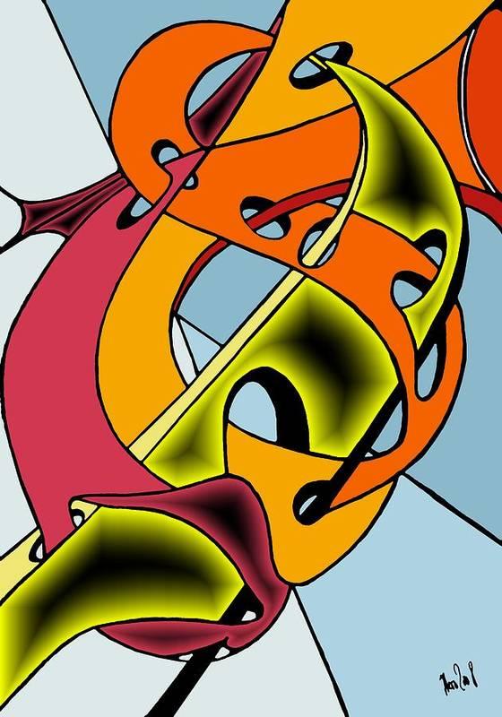 Lifeways Poster featuring the digital art Lifeways by Helmut Rottler