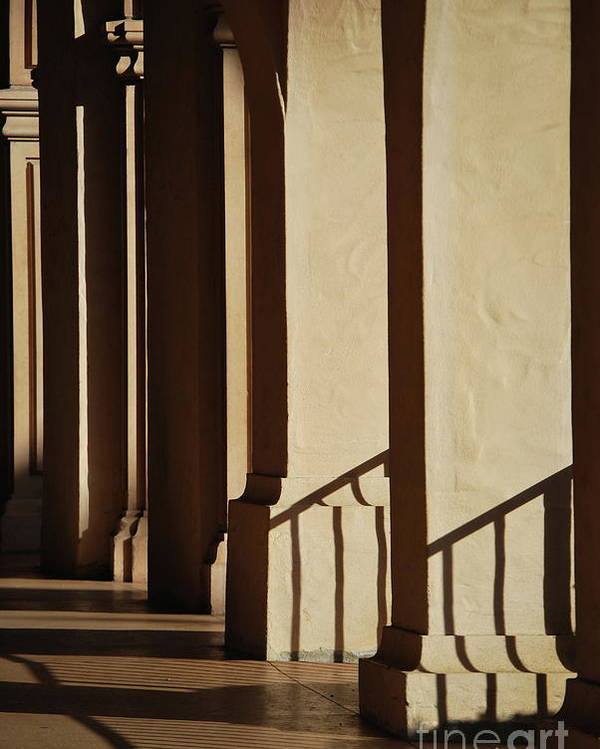Columns Poster featuring the photograph Light And Shadows by Lori Leigh
