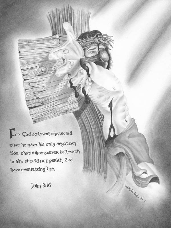 Hand Drawn Poster featuring the drawing Light Of Salvation by Christopher Brooks