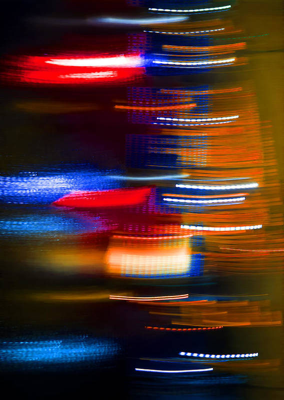 Abstract Poster featuring the photograph Light Speed by Alex Art and Photo