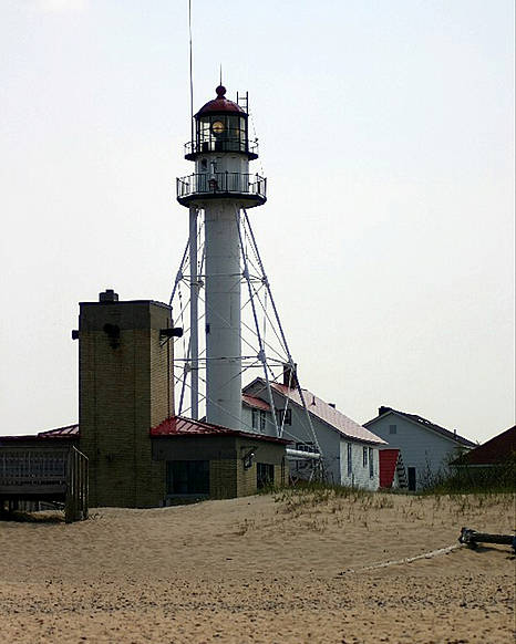 Lighthouses Poster featuring the photograph Lighthouse At White Fish Point Michigan by Vincent Duis