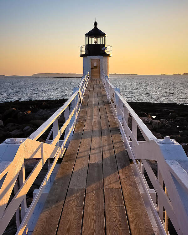 Landscape Poster featuring the photograph Lighthouse Boardwalk by Benjamin Williamson