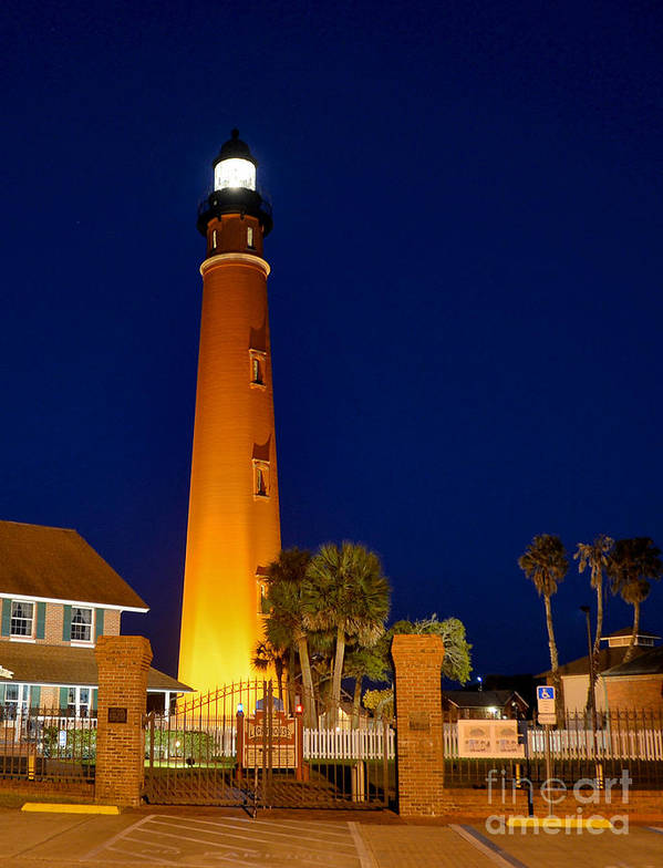 Ponce Inlet Poster featuring the photograph Lighthouse by Don Howard