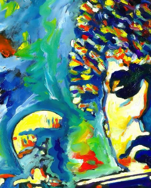 Bob Dylan Poster featuring the painting Like A Rolling Stone by Vel Verrept