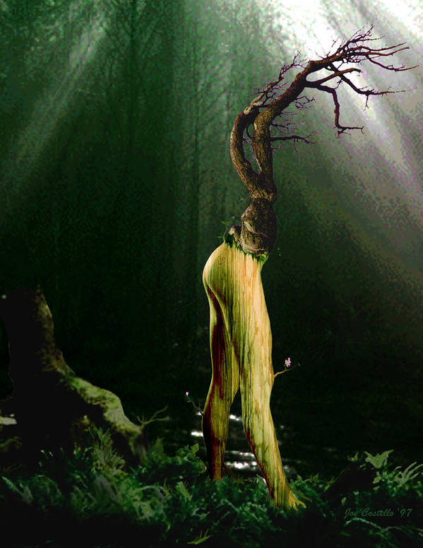 Tree Poster featuring the digital art Limbs by Joe Costello