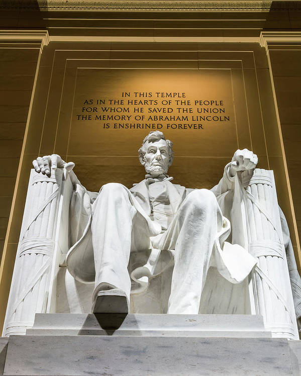 Abraham Lincoln Poster featuring the photograph Lincoln Memorial 2 by Larry Marshall