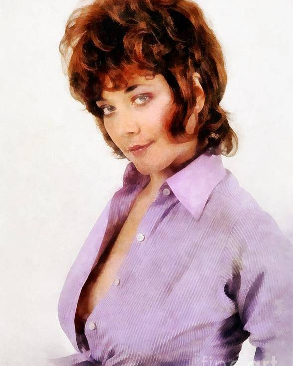 Linda thorson vintage actress by john springfield poster by john hollywood poster featuring the painting linda thorson vintage actress by john springfield by john springfield thecheapjerseys Image collections