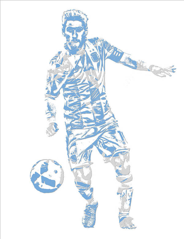 6495ca79134 Lionel Messi Poster featuring the mixed media Lionel Messi F C Barcelona  Argentina Pixel Art 3 by