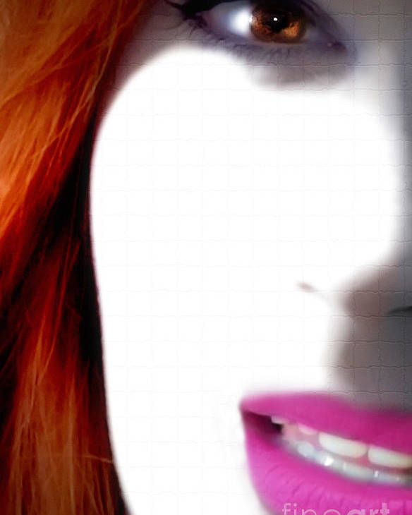 Women Poster featuring the photograph Lips by Steven Digman