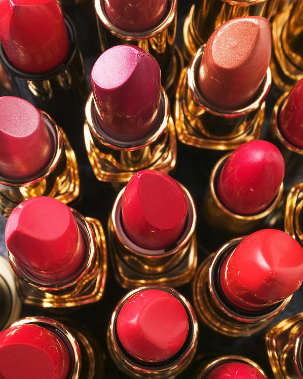 Lipstick Poster featuring the photograph Lipstick Rows by Garry Gay