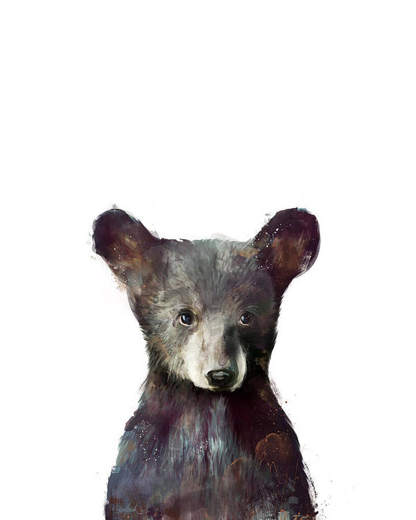Bear Poster featuring the painting Little Bear by Amy Hamilton