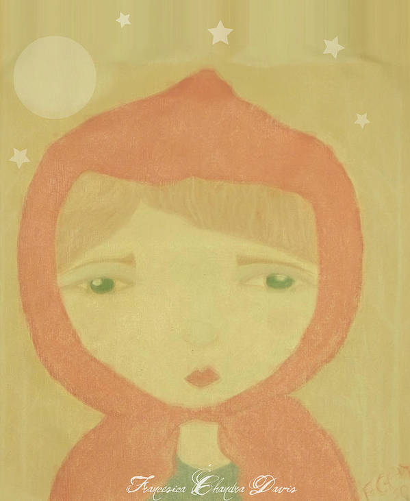 Little Red Riding Hood Poster featuring the painting Little Red Riding Hood by Sacred Muse