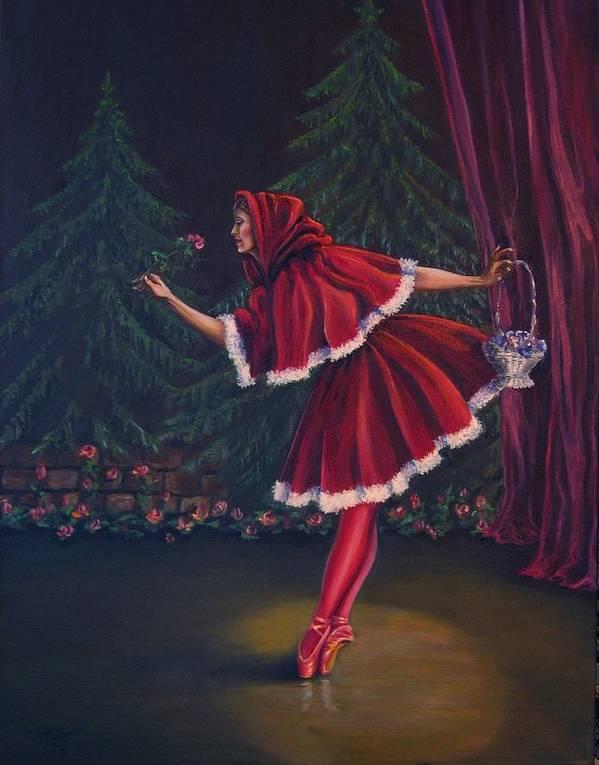 Dance Poster featuring the painting Little Red Riding-hood by Maren Jeskanen