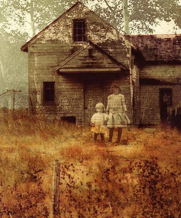 Ghosts Poster featuring the photograph Little Sister by Brande Barrett