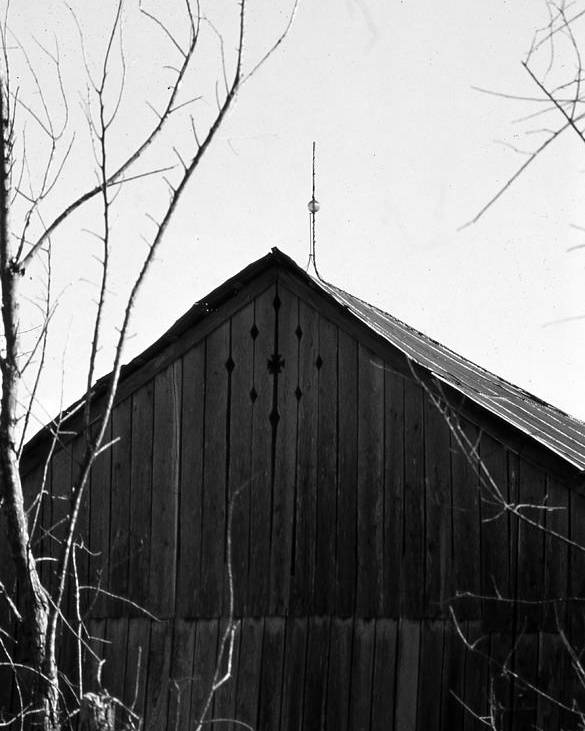 Ansel Adams Poster featuring the photograph lloyd-shanks-barn-1BW by Curtis J Neeley Jr