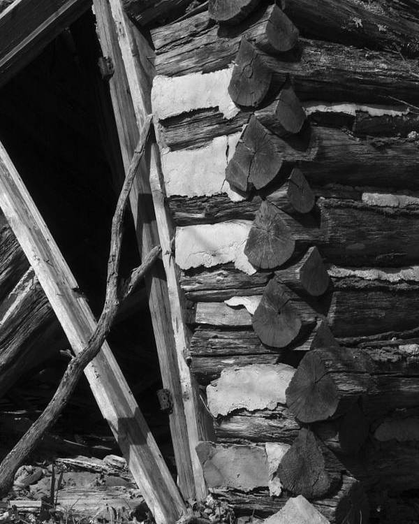 Poster featuring the photograph lloyd-shanks-barn-3BW by Curtis J Neeley Jr