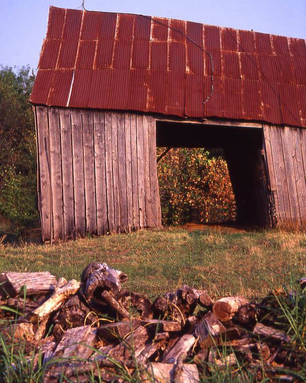 Poster featuring the photograph Lloyd Shanks Barn2 by Curtis J Neeley Jr