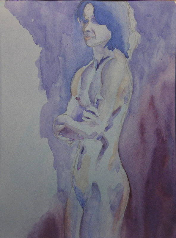Female Nude Standing Poster featuring the painting LMD by Ken Daugherty