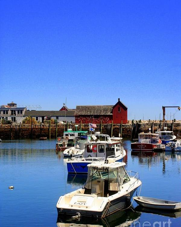 Rockport Poster featuring the photograph Lobster Boats by John Kenealy