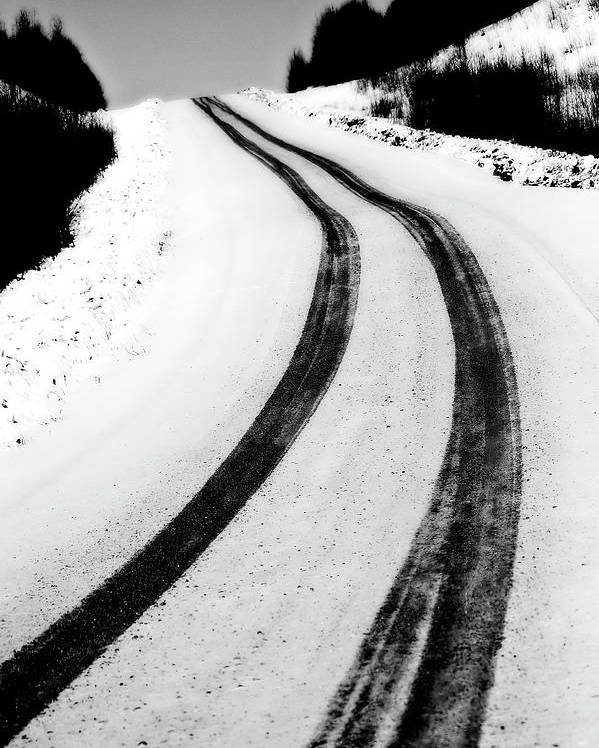 Snow Poster featuring the digital art Logging Road In Winter by Mark Duffy