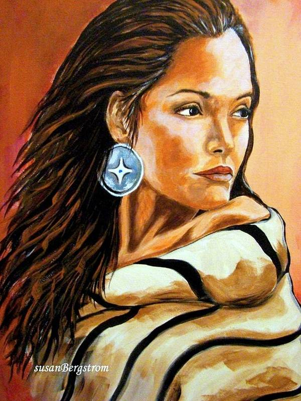 Native American Poster featuring the painting Lone Star by Susan Bergstrom