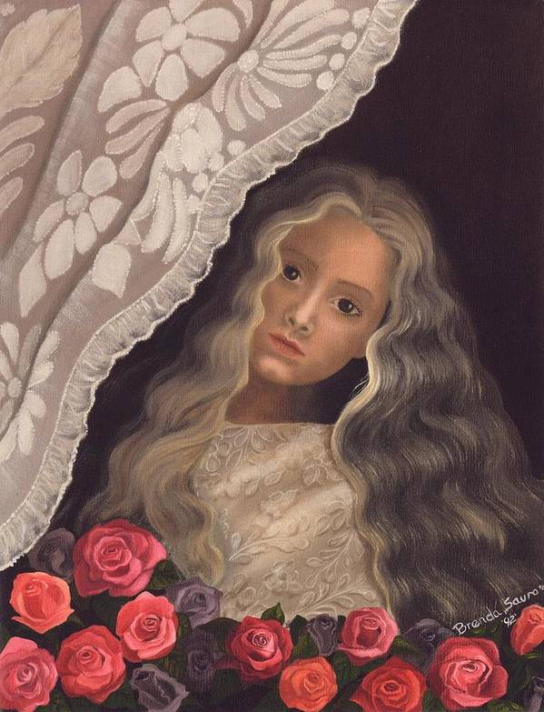 Victorian Poster featuring the painting Longing by Brenda Ellis Sauro