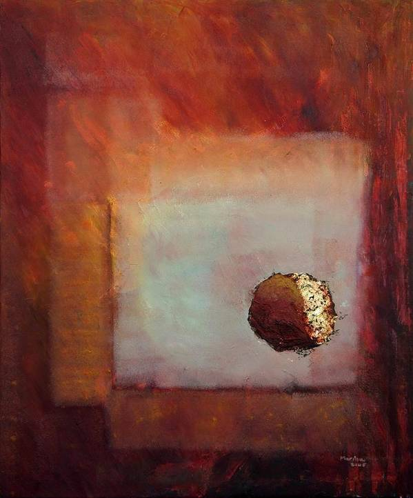 Abstract Poster featuring the painting 'looking In' by Marina Harris