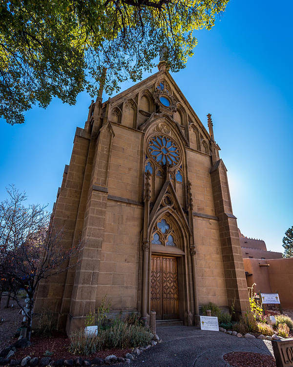 Temple Poster featuring the photograph Loretto Chapel by Jon Manjeot