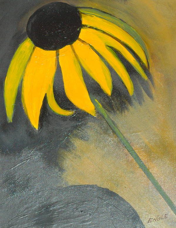 Flowers Poster featuring the painting Lori's Flower by Lori Hamilton
